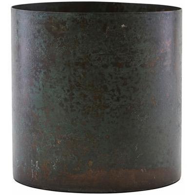 Steel plant pot / Green