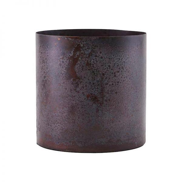 Steel plant pot / Bordeaux