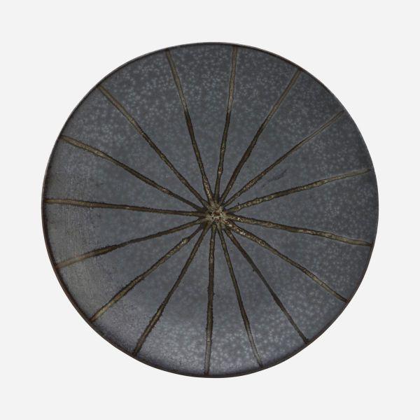Suns Cake Plate - Dark Brown / Grey