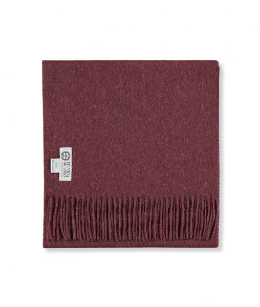 picture of handmade super soft baby alpaca shawl by so cosy in burgundy available online and at the store