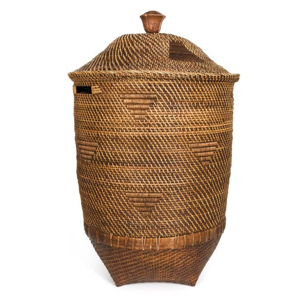 The Colonial Laundry Basket - Natural Brown