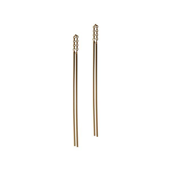 Fresh and minimalist gold drop earrings Lara by Keep it Peachy now online on Cuemars