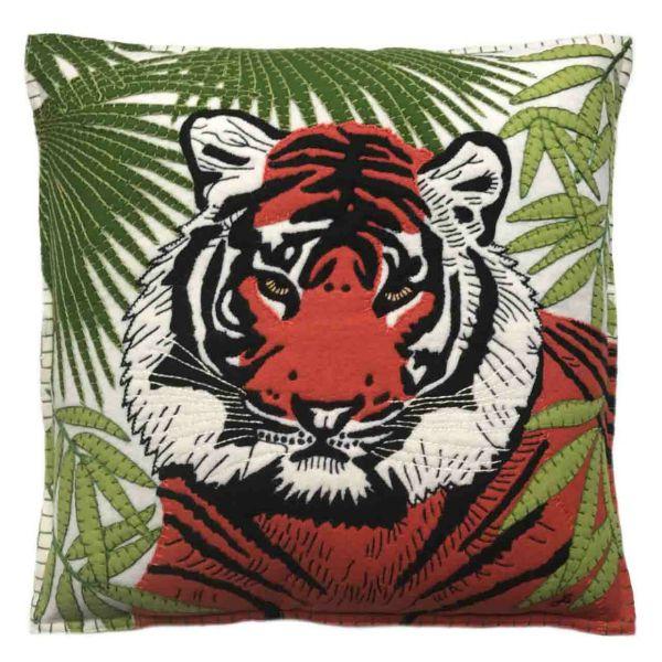 Jan Constantine Tiger Cushion (Cream)