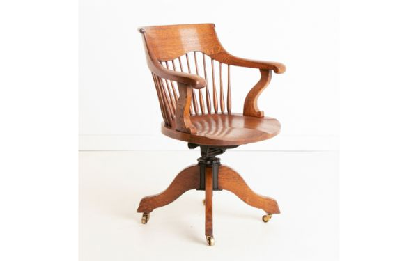 Victorian Oak Desk Chair c.1880