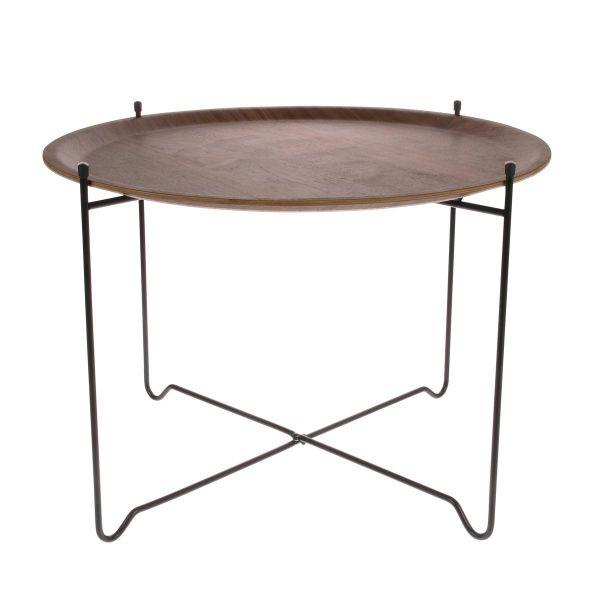 WALNUT SIDE TABLE - LARGE - BY HK LIVING side table HK LIVING