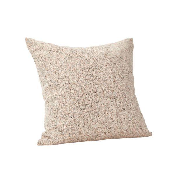 WHITE AND ORANGE PATTERN WOVEN CUSHION - BY HÜBSCH cushion HUBSCH