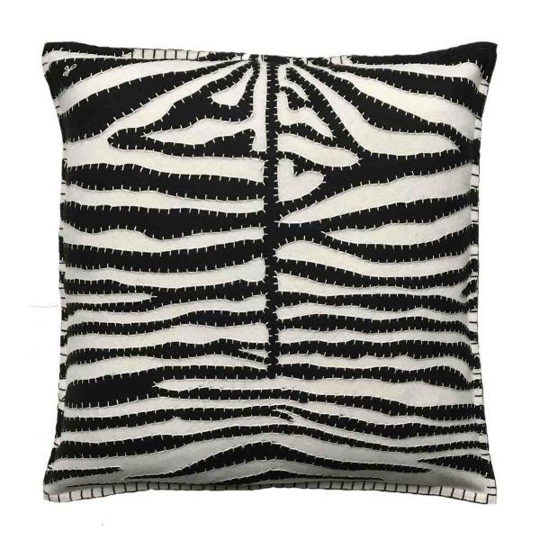 Jan Constantine Zebra Stripe Cushion (Cream)